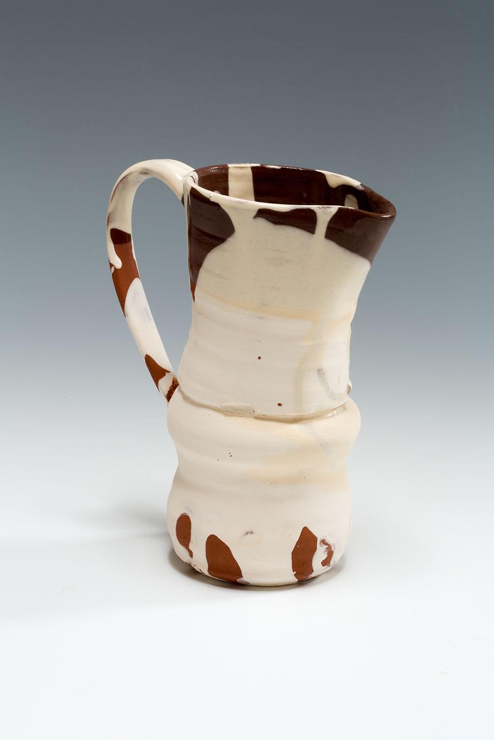 Slipware Jugs, terracotta, slip and honey glaze