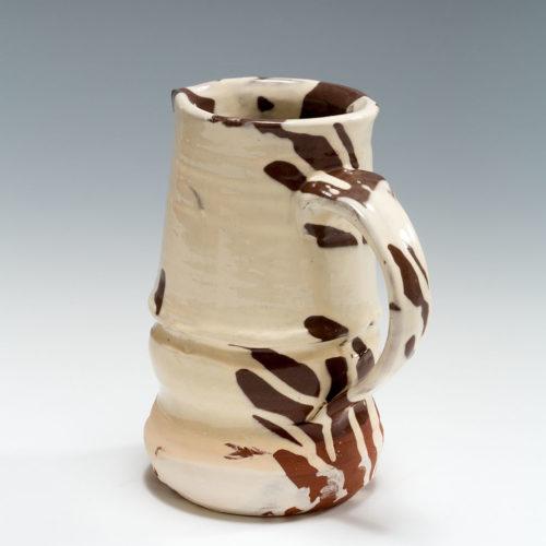 Slipware Jug, terracotta, slip and honey glaze