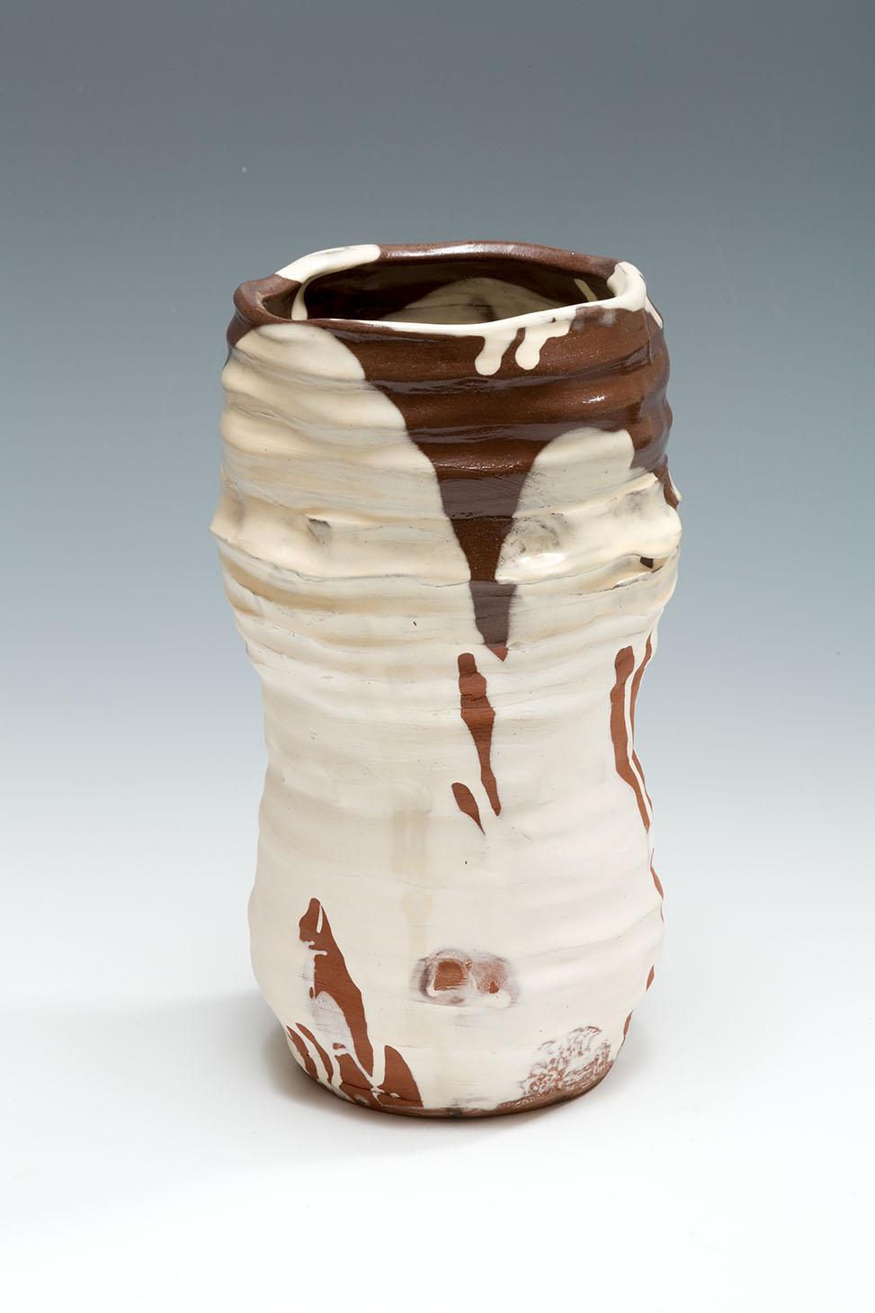 Slipware Pot, terracotta, slip and honey glaze