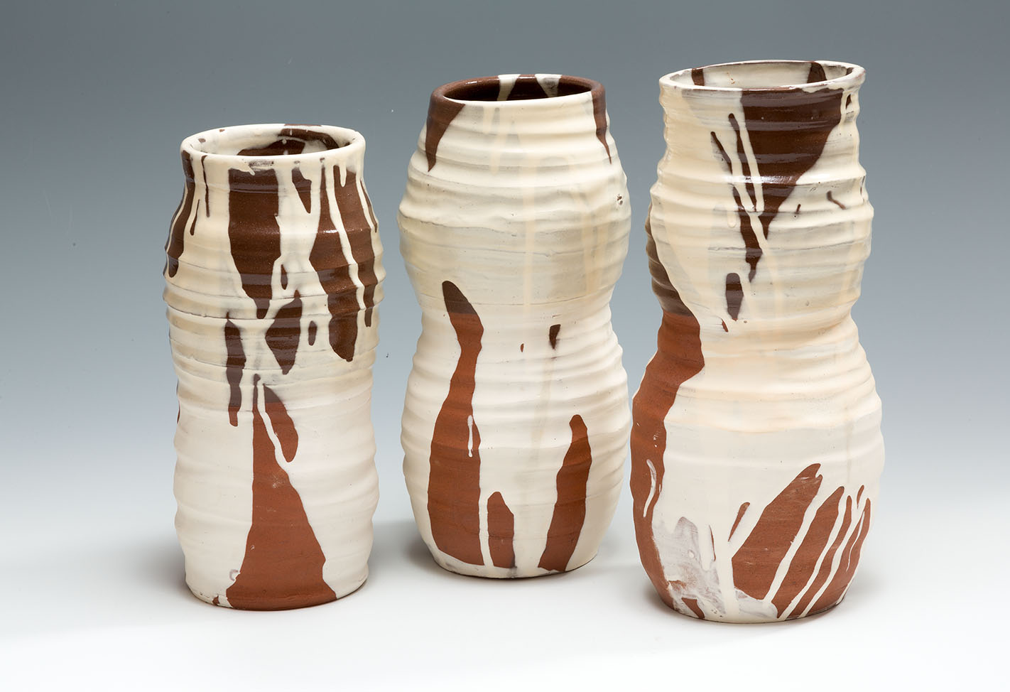 Slipware Pots, terracotta, slip and honey glaze